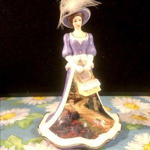 "Thomas Kinkade Other - Kincade ""Peaceful Picnic Retreat"" Porcelain Figure"
